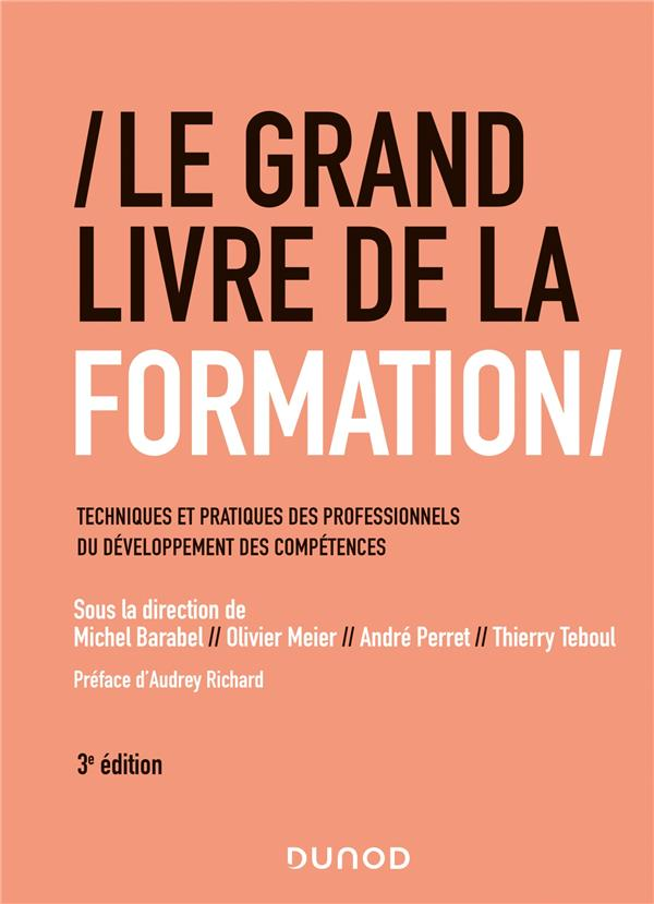 Le grand livre de la formation ; techniques et pratiques des professionnels du développement des compétences (3e édition)
