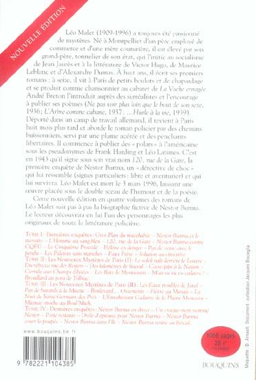Nestor Burma t.1 ; premières enquêtes