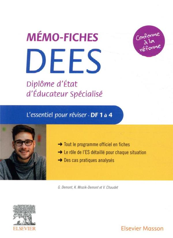 Mémo-fiches ; diplome d'Etat d'éducateur spécialisé ; l'essentiel pour réviser ; DF1 à 4
