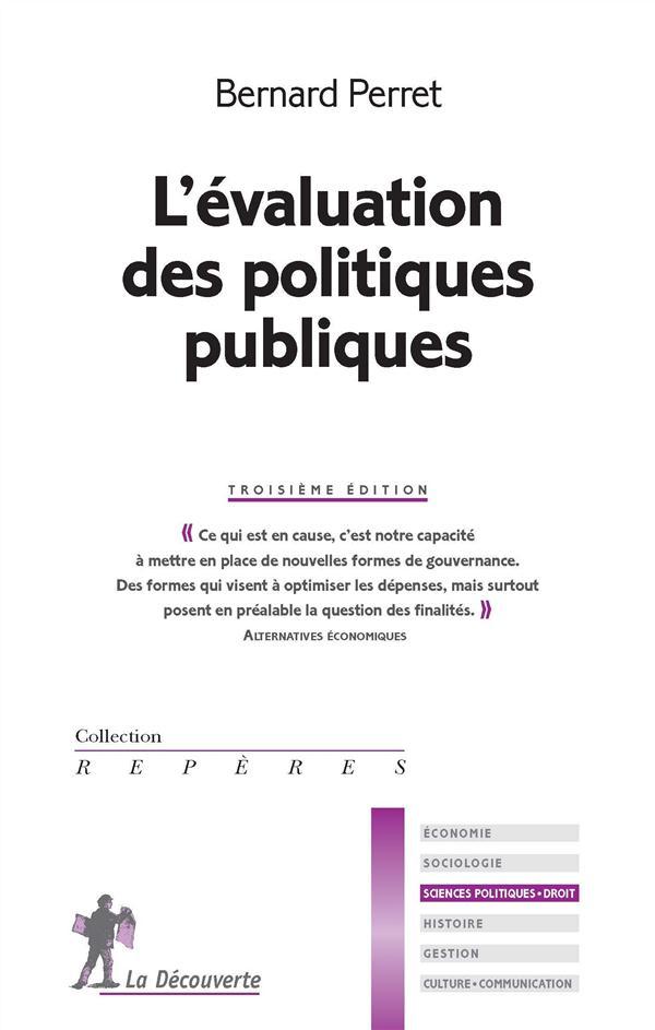 L'évaluation des politiques publiques (3e édition)