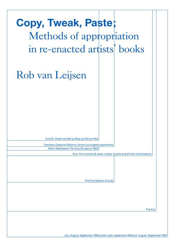 Copy, tweak, paste ; modes d'appropriation dans le reenactment de livres d'artistes