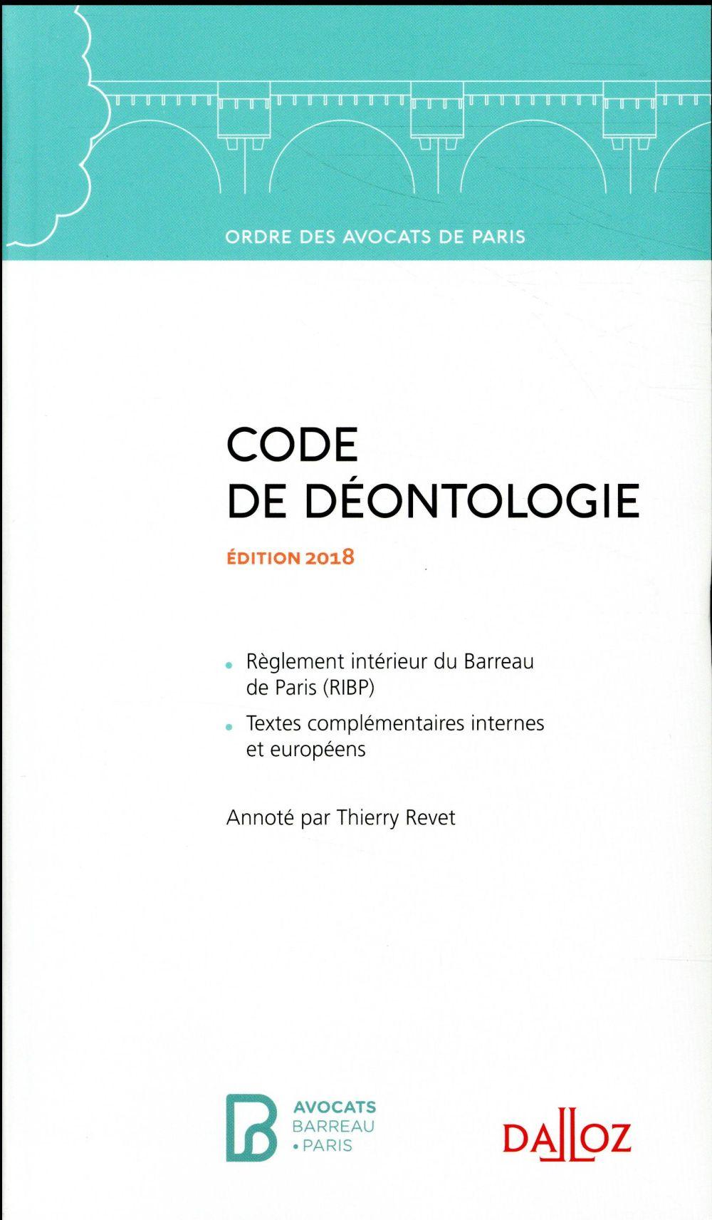 Code de déontologie de l'ODAP (édition 2018)