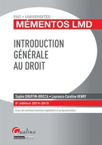 Vente Livre Numérique : Introduction générale au droit 2014-2015 - 8e édition  - Sophie Druffin-Bricca - Laurence Caroline Henry