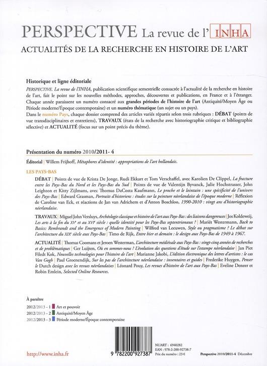 PERSPECTIVE - REVUE DE L'INHA n.4 ; les Pays-Bas ; 2011/4