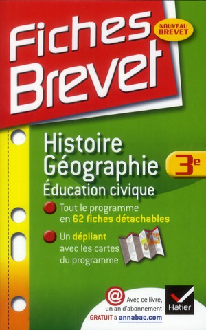 Fiches Brevet; Histoire-Geographie ; 3eme