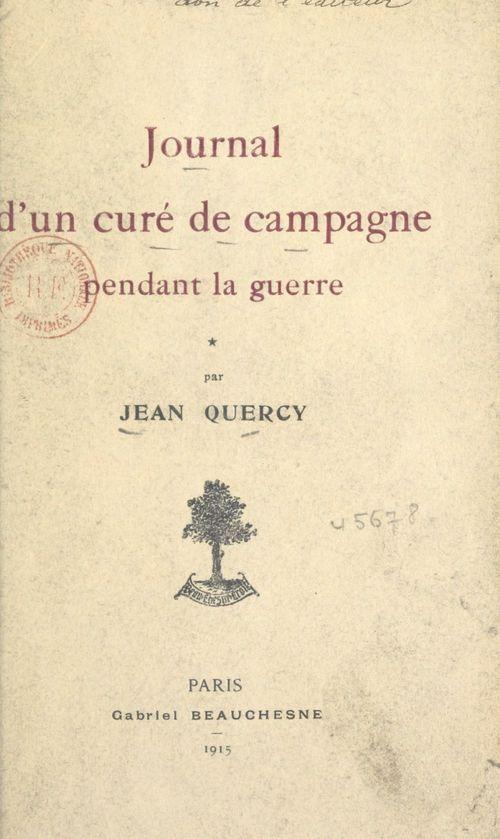 Journal d'un curé de campagne pendant la guerre