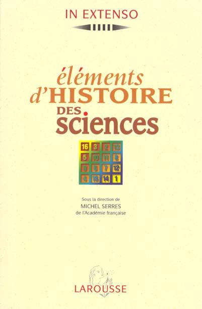 elements d'histoire des sciences - nte 09-97