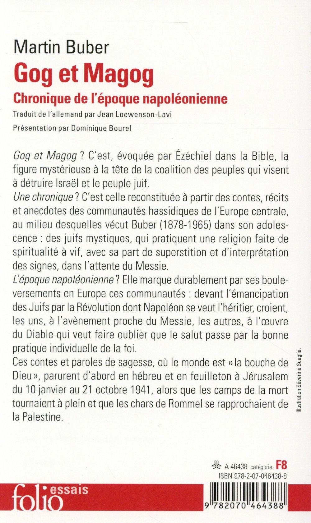 Gog et Magog ; chronique de l'époque napoléonienne