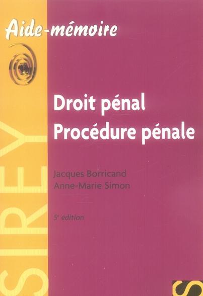 droit pénal procédure pénale (5e édition)