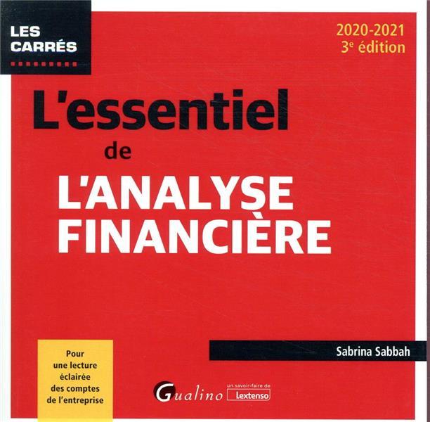 L'essentiel de l'analyse financière (édition 2020/2021)