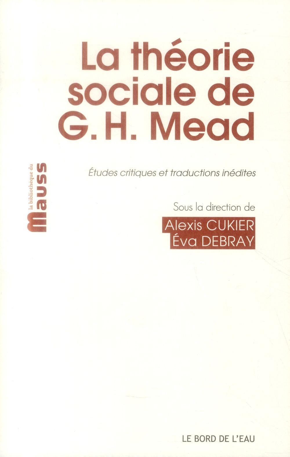 La théorie sociale de G.H. Mead