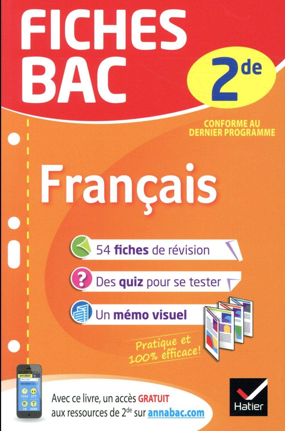 - FICHES BAC FRANCAIS 2DE - FICHES DE REVISION  SECONDE