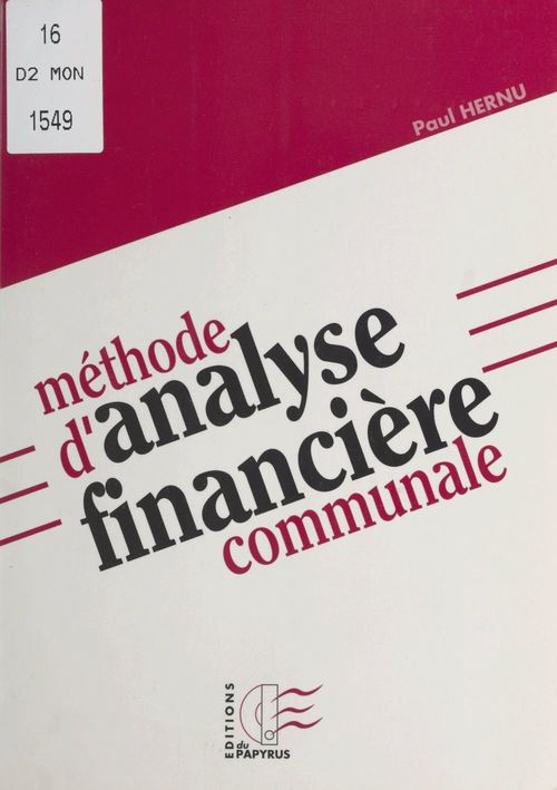 Methode d'analyse financiere communale