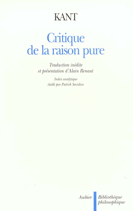 La critique de la raison pure