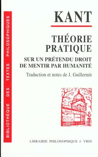Theorie Et Pratique Du Droit De Mentir
