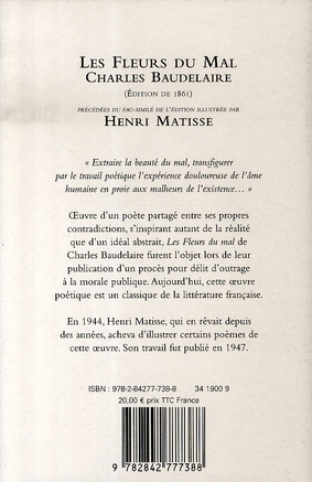 Les fleurs du mal illustrées par Matisse