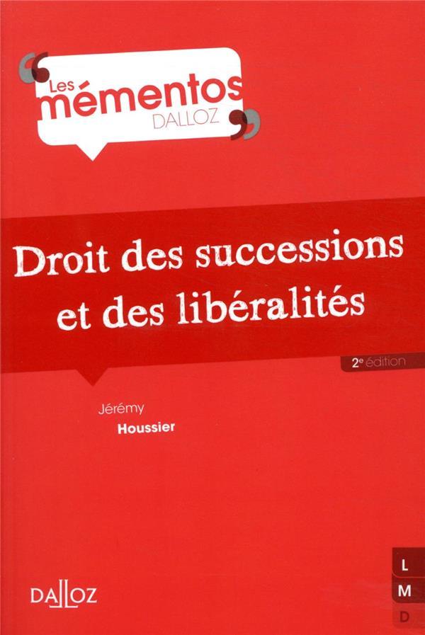 Droit des successions et des libéralités (2e édition)