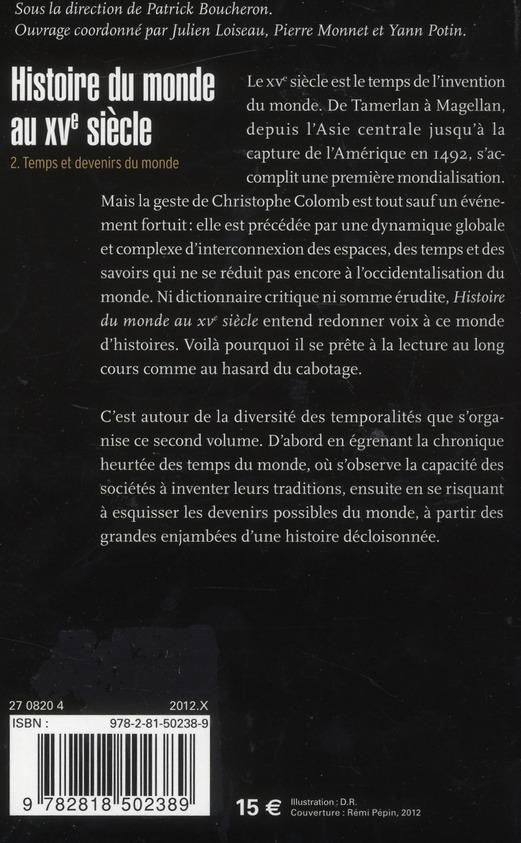 Histoire du monde au XVe siècle t.2