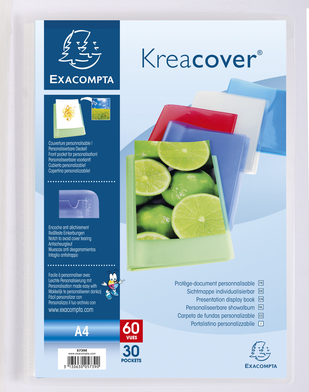 Protège-documents en polypropylène semi rigide Kreacover® Chromaline 60 vues - A4