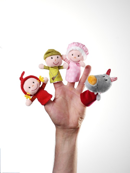 MARIONNETTES A DOIGTS PETIT CHAPERON ROUGE LITTLE RED RIDING HOOD FINGER PUPPETS