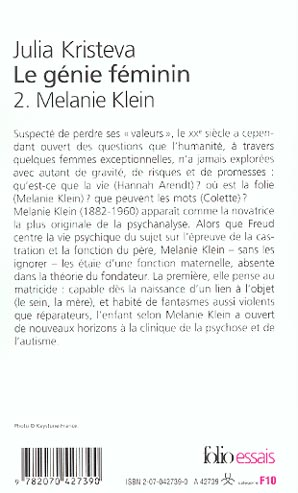 le genie feminin - vol02 - la vie, la folie, les mots-melanie klein