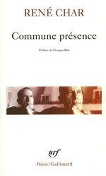 Vente EBooks : Commune présence  - René CHAR