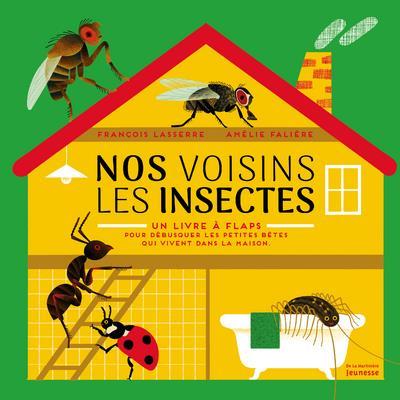 Nos voisins les insectes ; un livre à flaps, pour débusquer les petites bêtes qui vivent dans la maison