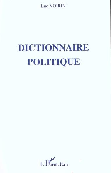 Dictionnaire Politique