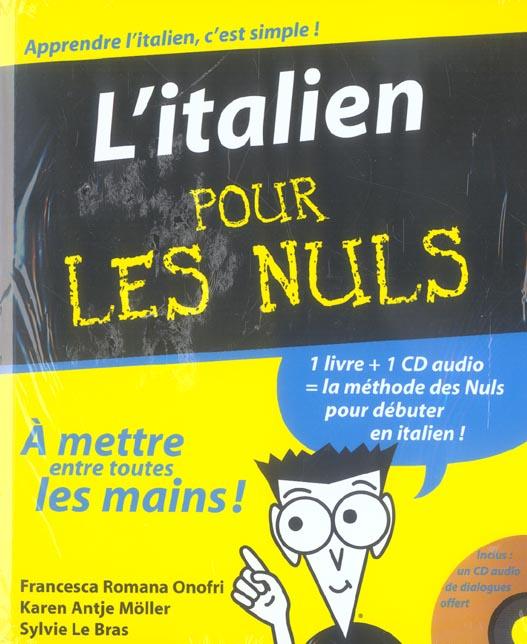 L'Italien Pour Les Nuls + Cd