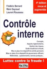 Vente Livre Numérique : Contrôle interne (4e édition)  - Rémi Gayraud - Laurent Rousseau - Frédéric Bernard