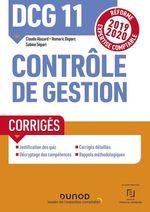 Vente EBooks : DCG 11 Contrôle de gestion - Corrigés  - Sabine Sépari - Claude Alazard - Romaric Duparc