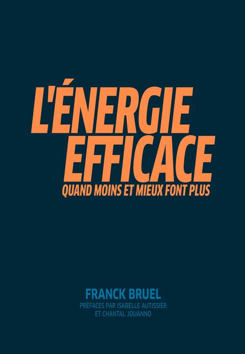 L'energie efficace - quand moins et mieux font plus. prefaces par isabelle autissier et chantal joua