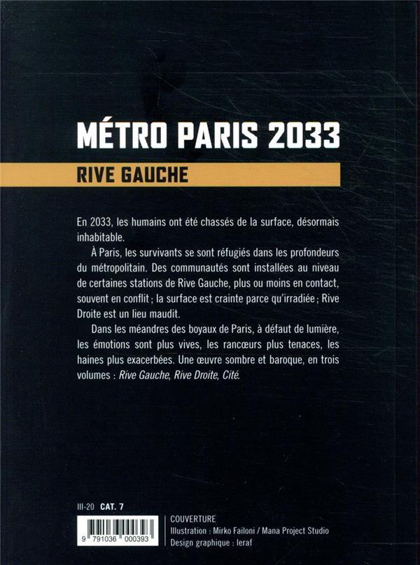 Métro Paris 2033 t.1 ; rive gauche