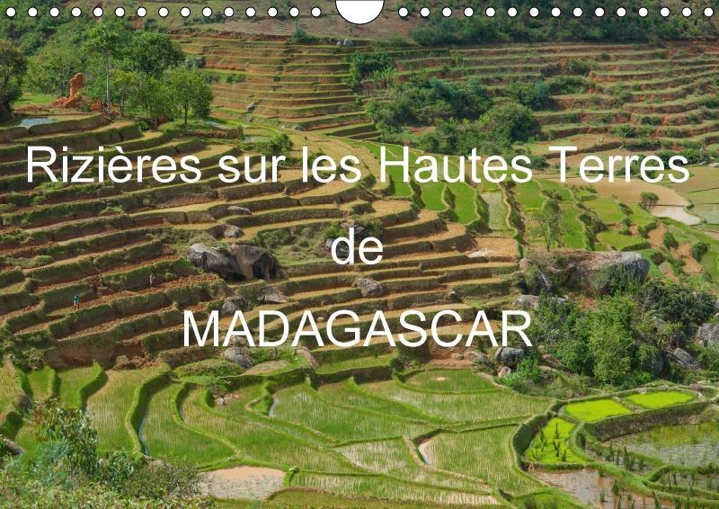 Rizières sur les Hautes Terres de Madagascar (calendrier mural 2017 DIN A4 horizontal)