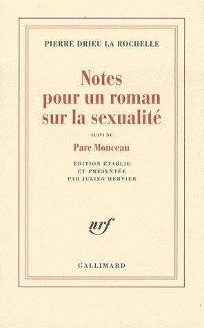 Notes pour un roman sur la sexualité ; parc Monceau