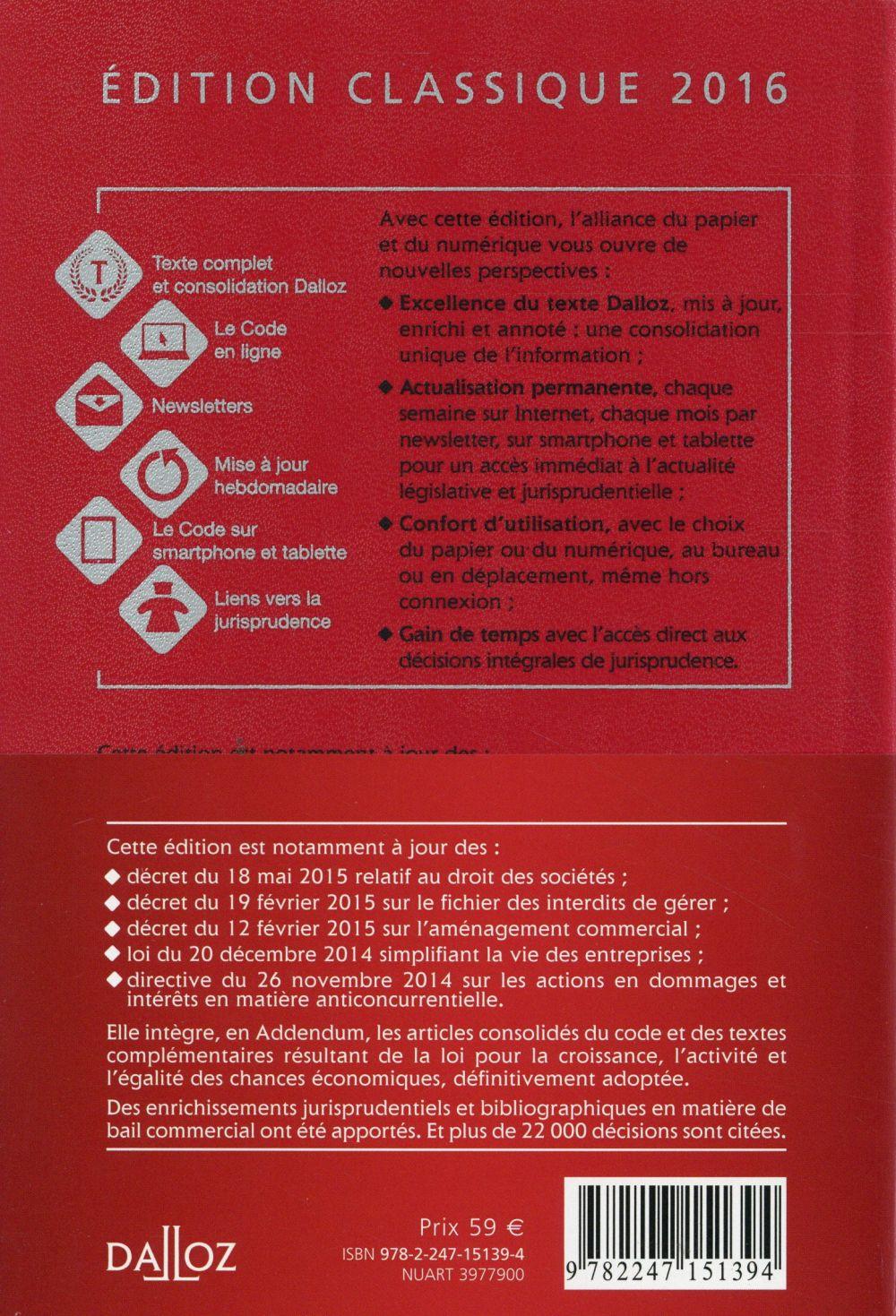 Code de commerce (édition 2016)