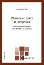 Vente EBooks : L´Europe en quête d´Européens  - Gérard BOUCHARD