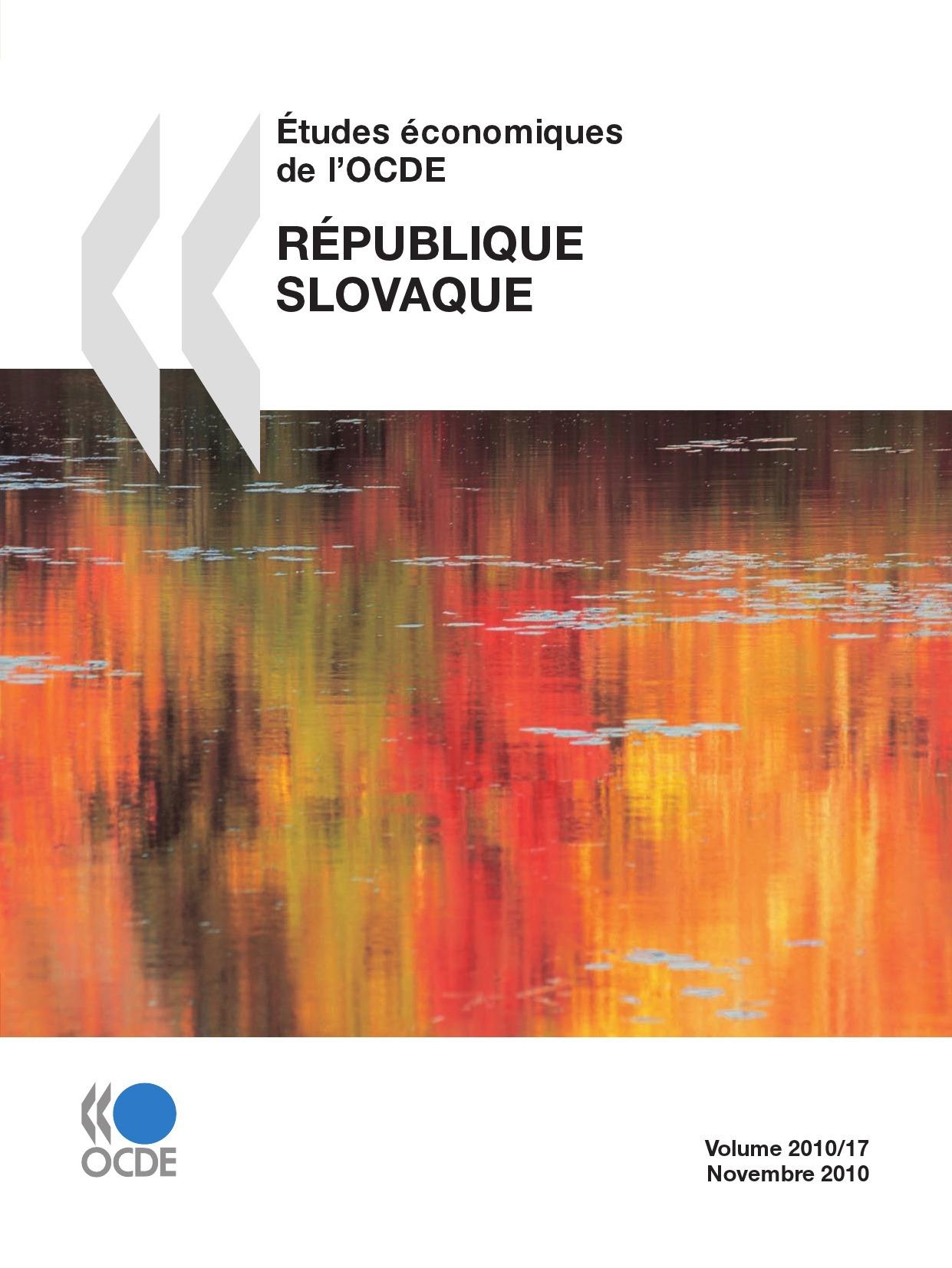 Études économiques de l'OCDE : République slovaque 2010