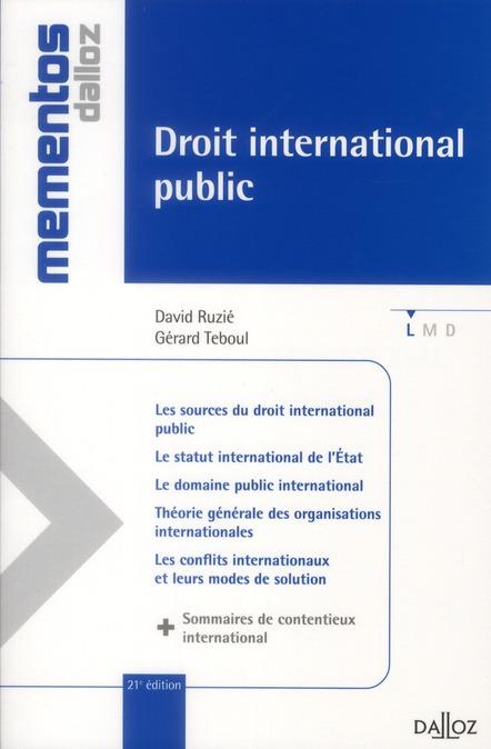Droit international public (21e édition)