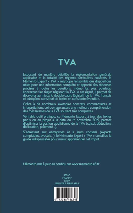 Mémento expert ; TVA (édition 2020)