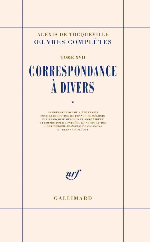 Vente EBooks : Correspondance à divers (Tome 1)  - Alexis de TOCQUEVILLE