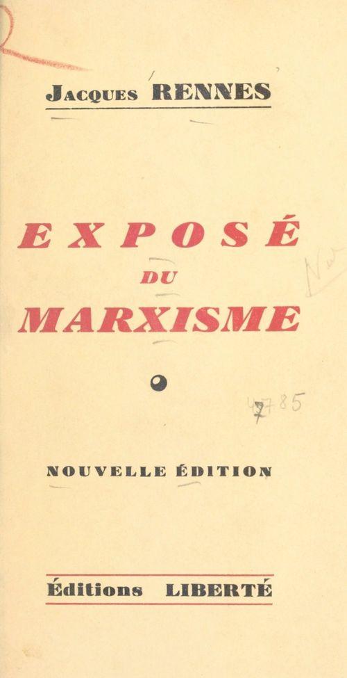 Exposé du marxisme