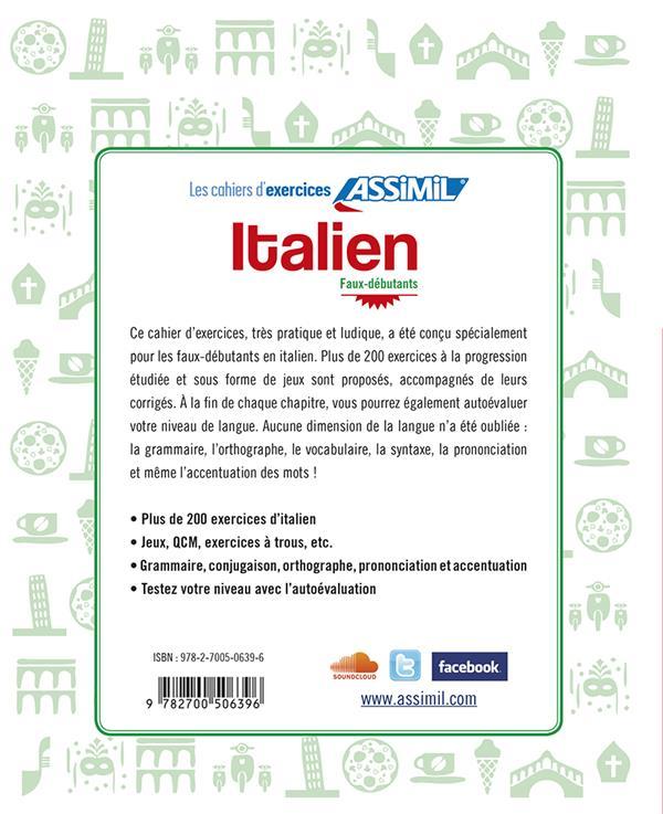Italien ; faux-débutants