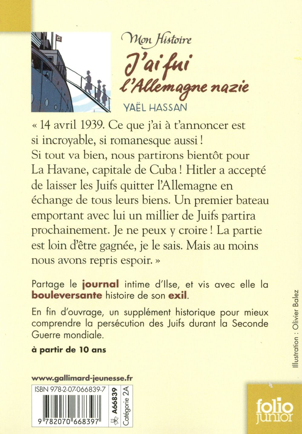 J'ai fui l'Allemagne nazie ; journal d'Ilse (1938-1939)
