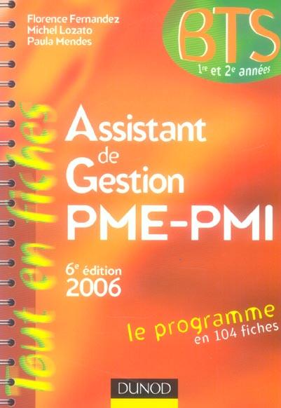Assistant de gestion pme/pmi (6e edition)