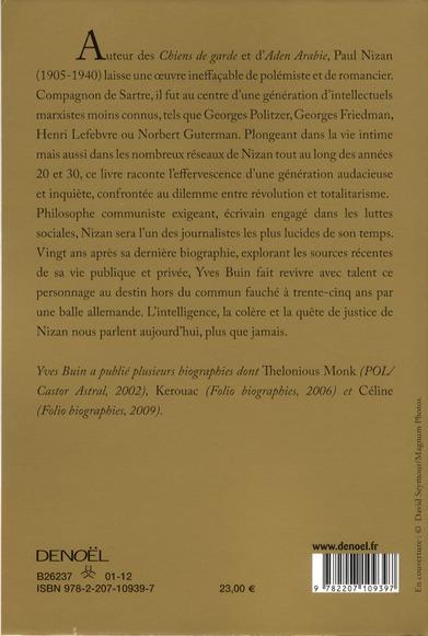 Paul Nizan ; la révolution éphémère