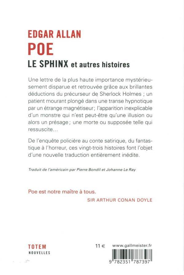 le sphinx ; et autres histoires