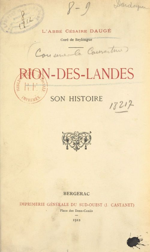 Rion-des-Landes  - Cesaire Dauge