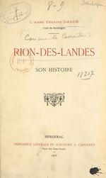 Rion-des-Landes