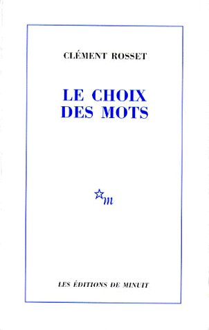 LE CHOIX DES MOTS